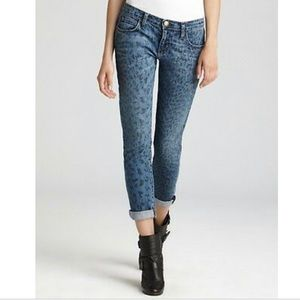 Current/Elliott The Rolled Skinny Indigo Leopard